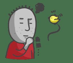ojizousan and little bird sticker #199765