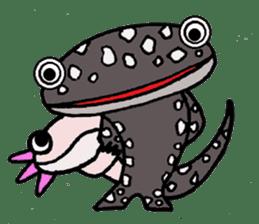 Mr.Mexico salamander sticker #201628