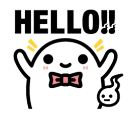 Charlie the ghost sticker #201801