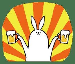 rabbit with beautiful legs sticker #202871