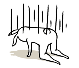 rabbit with beautiful legs sticker #202877