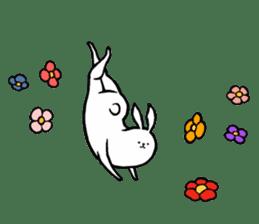 rabbit with beautiful legs sticker #202887