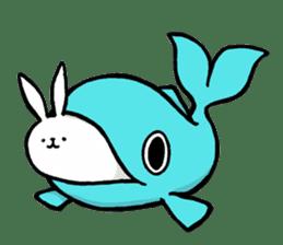 rabbit with beautiful legs sticker #202892