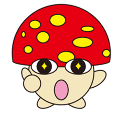 circle face 12 mushroom part 1 sticker #204384