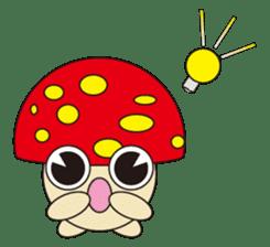 circle face 12 mushroom part 1 sticker #204410