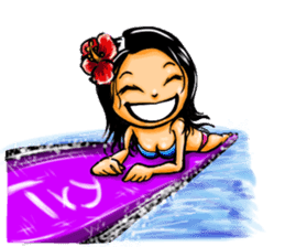 ArtRJ: HAWAII & Surfing (world.var) sticker #204731