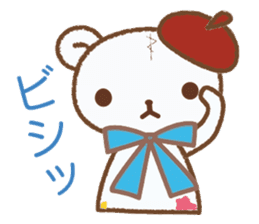 Art teddy bear sticker #205418