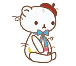 Art teddy bear sticker #205419