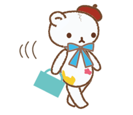 Art teddy bear sticker #205422