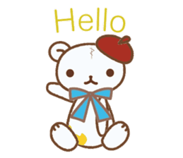 Art teddy bear sticker #205429
