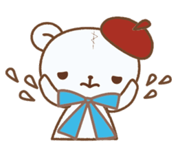Art teddy bear sticker #205433