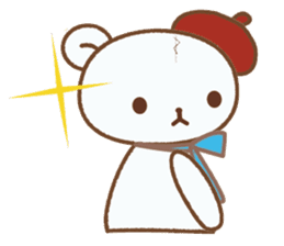 Art teddy bear sticker #205434
