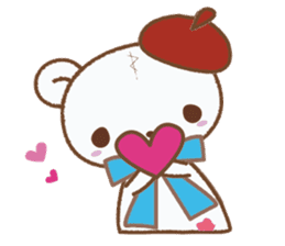 Art teddy bear sticker #205435