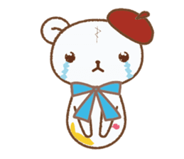 Art teddy bear sticker #205436
