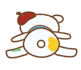 Art teddy bear sticker #205446