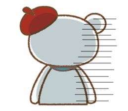 Art teddy bear sticker #205453