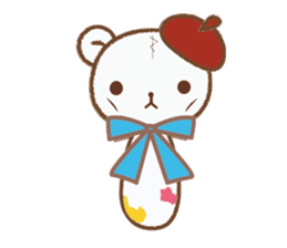 Art teddy bear sticker #205455