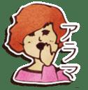 Japanese retro modern girls sticker #208593
