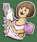 Japanese retro modern girls sticker #208606
