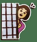 Japanese retro modern girls sticker #208612