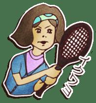Japanese retro modern girls sticker #208615