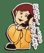 Japanese retro modern girls sticker #208620