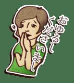 Japanese retro modern girls sticker #208622