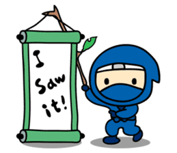 little ninja Chibikage-English version sticker #209006