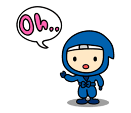 little ninja Chibikage-English version sticker #209028