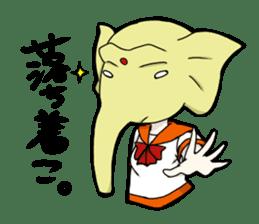 animal female high school student sticker #209360