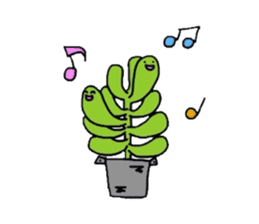 succulent stamp sticker #209665