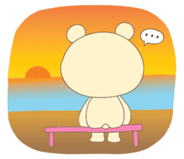 Haru, The Cute Little Bear sticker #210129