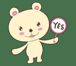 Haru, The Cute Little Bear sticker #210142