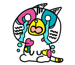 Rainbow color Days of Nekotan sticker #212919