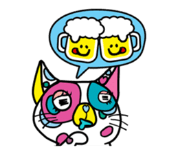 Rainbow color Days of Nekotan sticker #212923