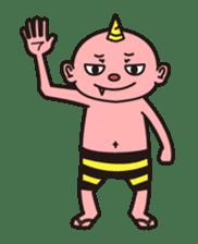 """Japanese monster """"ONITA """" sticker #214253"""