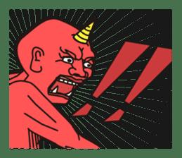 """Japanese monster """"ONITA """" sticker #214281"""