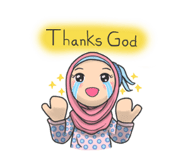 Flower  Hijab sticker #214299