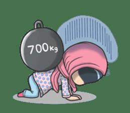 Flower  Hijab sticker #214301