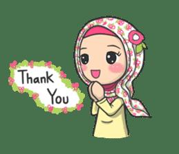 Flower  Hijab sticker #214302