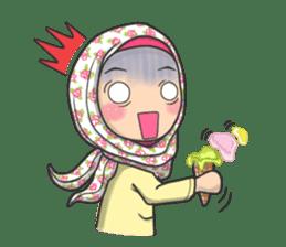 Flower  Hijab sticker #214304