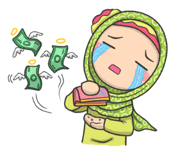 Flower  Hijab sticker #214306