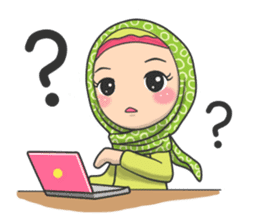Flower  Hijab sticker #214308