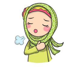Flower  Hijab sticker #214309