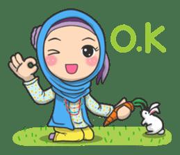 Flower  Hijab sticker #214310