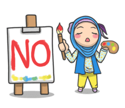 Flower  Hijab sticker #214311