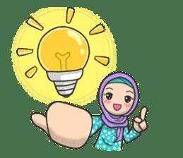 Flower  Hijab sticker #214317