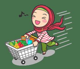 Flower  Hijab sticker #214321
