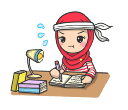 Flower  Hijab sticker #214322