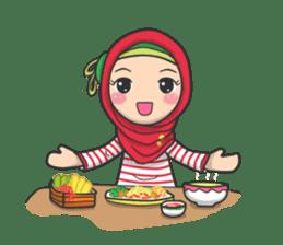 Flower  Hijab sticker #214323